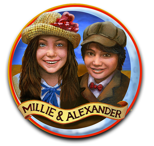 "Millie and Alexander - Main characters in a new upcoming book - ""Coney - A Trip to Luna Park"""